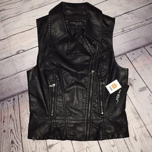Black Rivet by Wilson's Faux Leather Vest